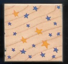 STAR SCATTER USA Patriotic 4 July Night Sky 1996 STAMPENDOUS! F019 RUBBER STAMP