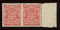 RARE ERROR - RHODESIA SCOTT #60A HORIZONTAL PAIR IMPERF BETWEEN UNUSED OG