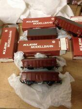 lot 4 wagons klein marchandise  neuf dans boite d'origine