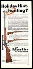 1960 Marlin Model 39-A Lever-Action w/ 101 81-C Rifle Ad Gun Advertising