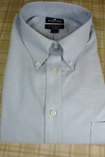 NEW Stafford Blue Wrinkle Free Oxford Long Sleeve Dress Shirt BIG 18 1/2 - 38/39