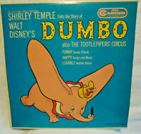 "1949 Walt Disney's ""Dumbo"" Vinyl LP Record Album VTG, Story by Shirley Temple"