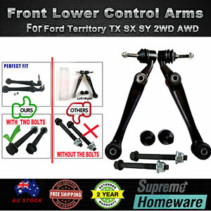 LH & RH Front Lower Control Arms Ball Joints For Ford Territory TX SX SY 2WD AWD