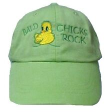 Cancer Awareness Baseball Cap Bald Chicks Rock Chemo Hat Adams Cool Crown Lime