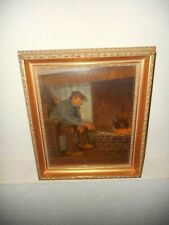 Old oil painting,{ Man smoking his pipe, signed John Paymans, nice frame}.