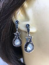 Chico's Silver Opal Earrings NEW - Resemble Miniature 🎸 Guitars