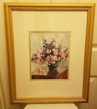 Claude Monet 'Chrysanthemums' Vintage Lithograph in a Gold Frame