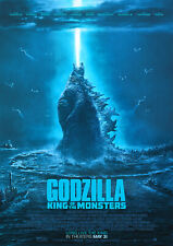Godzilla Poster, King of the Monsters Movie 2019 NEW, FREE P+P, CHOOSE YOUR SIZE