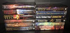 Raymond E Feist Lot 12 Riftwar Cycle Demonwar Chaoswar Darkwar Serpentwar Sagas