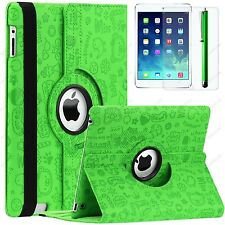 Polka Dot Flower Cute Map 360 Rotate Leather Case Smart Cover For iPad 4 3 2 Gen