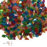 2mm Ultra-thin Resin Glitter Mosaic Tiles For Crafts tesserae DIY Art 200 Pieces