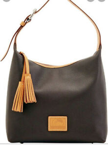 Dooney & Bourke Paige Sac Black Pebble Leather Purse Hobo NWT