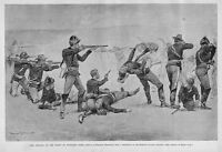 FREDERIC REMINGTON WOUNDED KNEE BATTLE SIOUX INDIANS SEVENTH CAVALRY INFANTRY
