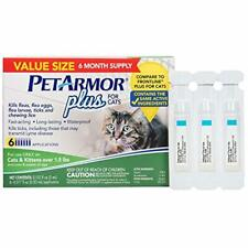 PETARMOR Plus for Cats, Flea Tick Prevention for Cats (Over 1.5 Pounds), Inclu