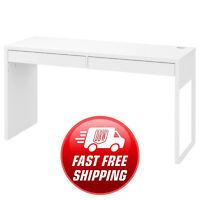 Ikea Micke Furniture Study Desk, Computer Desk, Office Desk, White 142x50x75 Cm