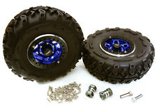C27037BLUE 2.2x1.5-in. High Mass Wheel, Tires, 14mm OffSet Hubs for 1/10 Crawler