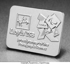 OLYMPIC PINS 2012 LONDON ENGLAND UK LLOYDS TSB SPONSOR PARTNER SILVER PARALYMPIC