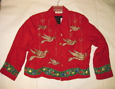 Anage Holiday Jacket in Red, Women's Red Jacket, Christmas Jacket - Size Large