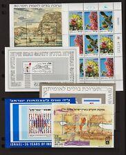 Israel - 13 Souvenir sheets, Mint, NH, cat. $ 40.85 - see 2 scans !