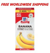 McCormick Pure Banana Extract Non GMO 2 Fl Oz WORLDWIDE SHIPPING