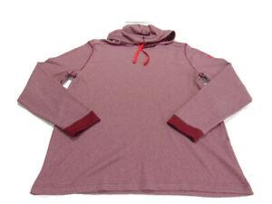 Under Armour Hoodie Burgundy Red Allseasongear Long Sleeve Thermal Loose Mens XL