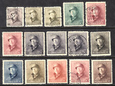 BELGIUM #124-133, 1919 MINT/USED LOT/15, F-VF, MOSTLY USED