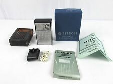 Vintage HITACHI TRANSISTOR 6 Portable Radio TH-620 Box Manual Super Clean JAPAN