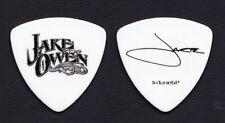 Jake Owen Signature White Bass Guitar Pick - 2012 Tour