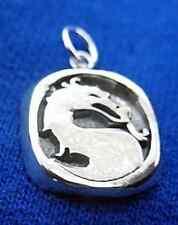LOOK Mortal Kombat solid Sterling Silver Charm Pendant MK X Jewelry