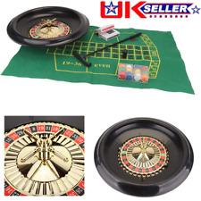 More details for roulette set -with chips, felt + rake + 16 inch wheel for casino games uk