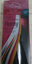 18in Clip In REMY Black Extensions-Silky Straight(REAL)human Hair 10 Piece