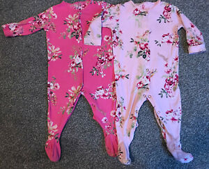 Next Baby Girls Age 6-9 Months Floral Sleepsuit Babygrows
