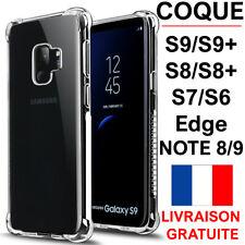 COQUE POUR SAMSUNG GALAXY S9 S9 PLUS S8 S7 S6 EDGE + RENFORCÉ SOUPLE CASE BUMPER