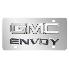 GMC Envoy Double 3D Logo Chrome Stainless Steel License Plate, Made in USA