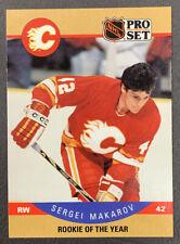 1990-91 Pro Set Hockey - #396 Sergei Makarov ROY - Calgary Flames