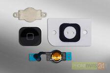 Iphone 5 Home Button KOMPLETT  Set Taste Knop Dichtung schwarz