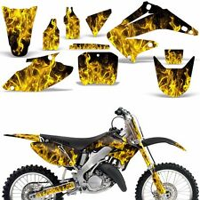 Graphic Kit Honda CR125 CR250 Dirt Bike Decal Backgrounds Sticker 02-03 ICE YLLW
