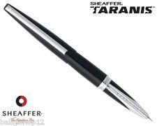 Sheaffer Taranis Lacquer Black Fountain Pen Medium Nib With Converter New In Box