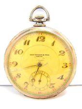 Ch. F. TISSOT & Fils Locle ARGENTO 800 Uomo frackuhr orologio da tasca per 1920