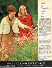 PUBLICITE ADVERTISING 085  1961   les tricots en fibre RATINE COURTELLE