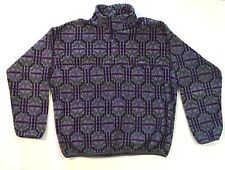 Patagonia Aztec Indian Synchilla Fleece T Snap Pullover Jacket Mens XL USA Vtg