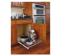 Pull-Out Rolling Shelf Wire Basket Base Cabinet Kitchen Storage Organizer