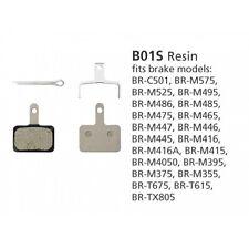 100% Genuine Shimano MTB Disc Brake Pads B01S Resin M525 M495 M475