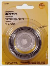 Hillman Steel Wire 50' 19 Gauge Galvanized 20 lb. Multi Use Hanger Craft 123133