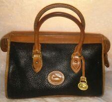 Vintage Collector Dooney & Bourke Satchel Purse All Weather Leather Black Brown