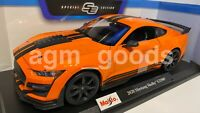 Maisto 1:18 Scale - Ford Mustang Shelby GT500 - Orange - Diecast Model Car