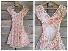 Lace Dress Floral Print Wet Seal Lined Small