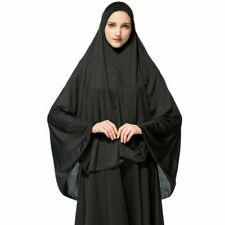 Black Hajj Umrah Long Prayer Ehram Ihram Hijab Under scarf Bone Bonnet