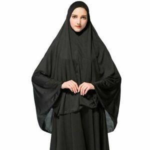 Black Hajj Umrah Long Prayer Ehram Ihram Hijab Under scarf Bone Bonnet