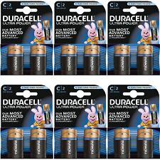 12 X Duracell Ultra Power C tipo pilas alcalinas Duralock - 1.5vv Lr14 Mx1400